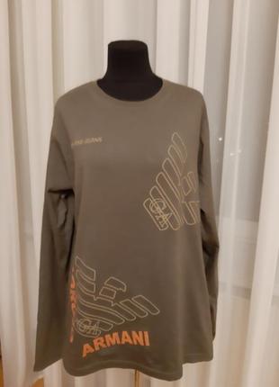 Лонгслив реглан футболка с длин.рукавом armani jeans -xl 50-52