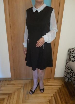 Красивое платье комбинированное шифоном