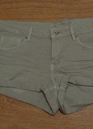 Стильные короткие джинсовые шорты / h&m / xl