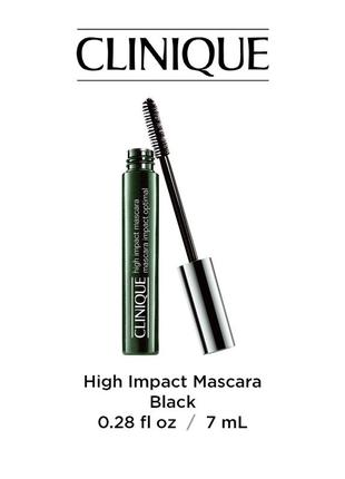 Тушь для ресниц clinique high impact mascara полноразмер