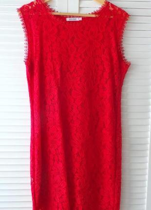 Эффектное красное платье van gils, р-р l.