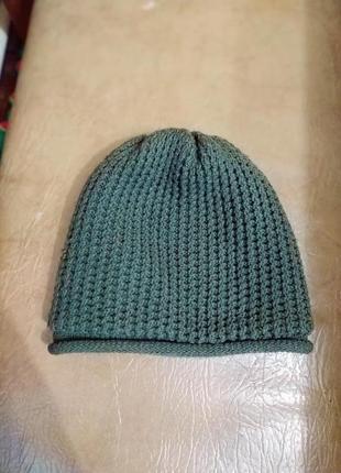 Теплая двойная шапка по хорошей цене