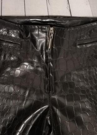 Штаны брюки джинсы лосины под кожу кожаные