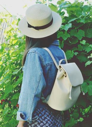 Новый стильный молочный рюкзачок