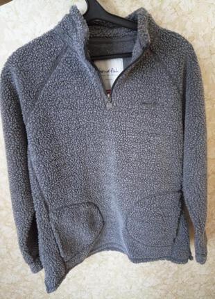 Тёплая зимняя кофта толстовка кардиган на размер 12-14