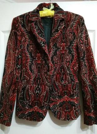 Escada apriori шикарный бархатный брендовый пиджак