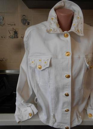 #белая джинсовая куртка #apart#пиджак # жакет#