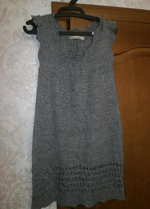 Серый сарафан на осень-зиму