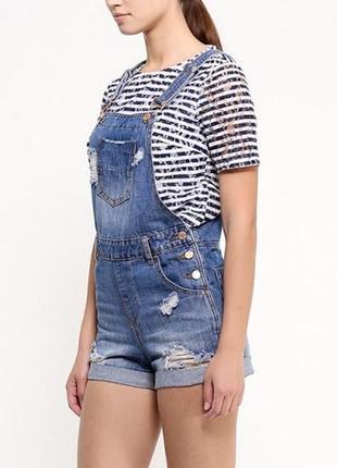 (новый) летний джинсовый комбинезон шорты befree m (new!)
