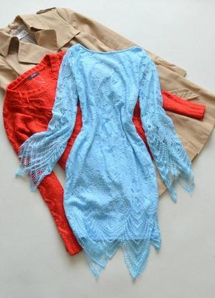 Красивое голубое платье rare london