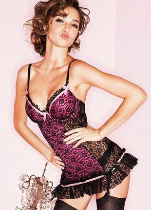 Корсет от la senza lingerie c подвязками и стрингами 38 d/d