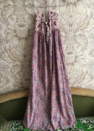 Красивое длинное платье сарафан zara