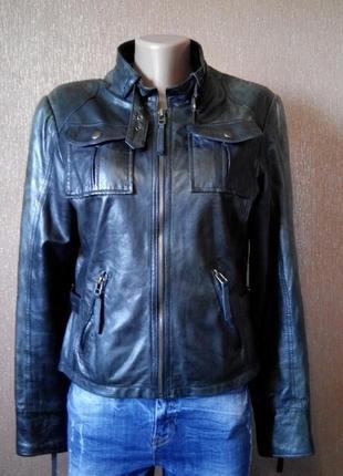 Кожаная мягкая куртка кожанка размер 10-12 buining