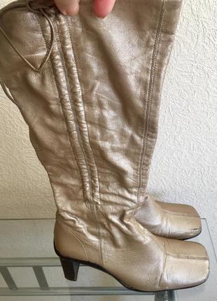 Сапоги- чулки с квадратным носком fornarina, натуральная кожа