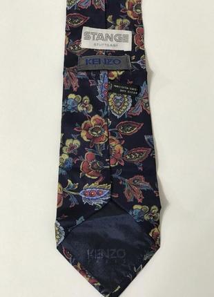 Галстук в цветочный орнамент от kenzo оригинал!!!