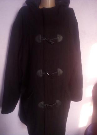 Черное пальто р 56