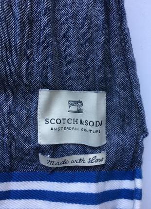 Большой 178/48 хлопковый шарф scotch &soda couture