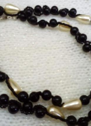 Колье ожерелье бусы с жемчугом