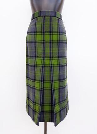 Тёплая юбка в клетку xxl модная юбка миди