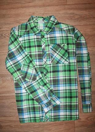 Замечательная байковая рубашка  jack wolfskin размер л