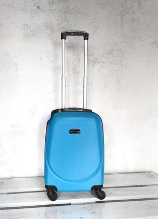 Оригинал! польша! малый пластиковый чемодан для ручной клади / мала пластикова валіза
