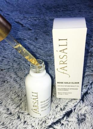 Масло для макияжа farsali rose gold elixir