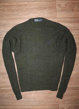 Оригинальный шерстяной свитер от дорогого бренда polo ralph lauren размер хл