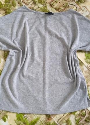 Плюшевая меланжевая кофта, джемпер, свитер
