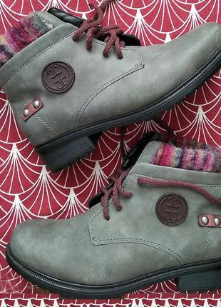 Ботинки (зима) немецкой марки jenny by ara,в коробке,38 размер