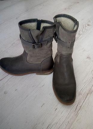 Ботинки теплые, натуральная кожа+замша (италия+польша) 39р