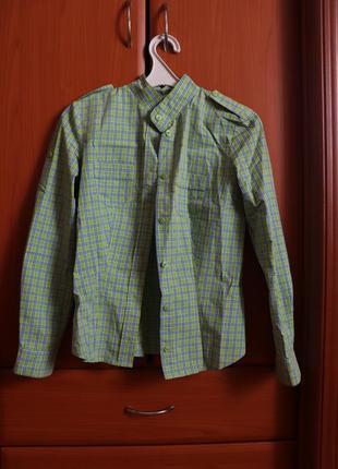 Стильная рубашка в клетку для девочки