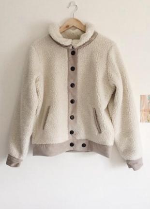 Пальто zara в стиле teddy-coat
