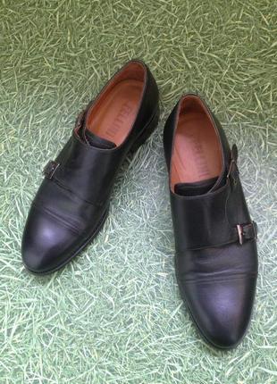 Классические кожаные туфли монки с пряжками fellini