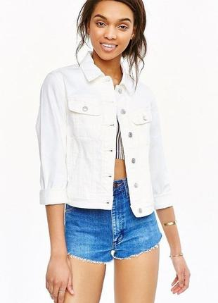 Белая джинсовка, джинсовый пиджак, жакет от yessica