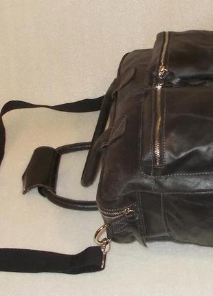 Большая брутальная мужская сумка натуральная кожа3 фото