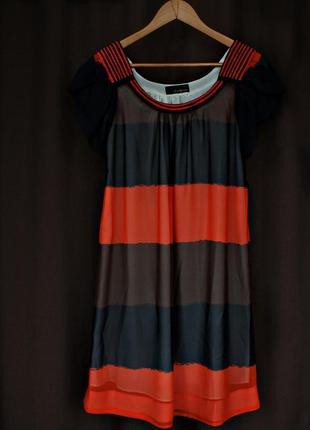 Свободное полосатое платье от twenty one