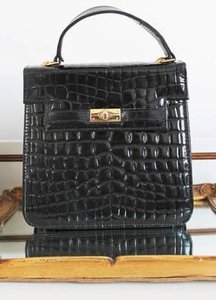 Стильная кожаная винтажная/модная кожаная сумка clarks/ кроссбоди