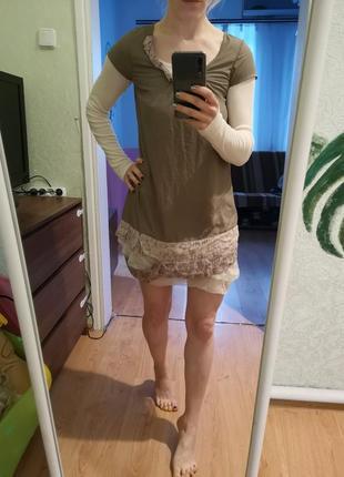 Двойное французкое платье