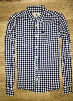 Шикарная мужская рубашка в клеточку