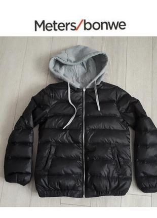 Легкий пуховик, куртка meters/bonwe на 11-12 лет р.152-158 см