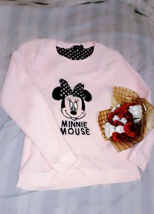 Махровая плюшевая домашняя кофта пижама