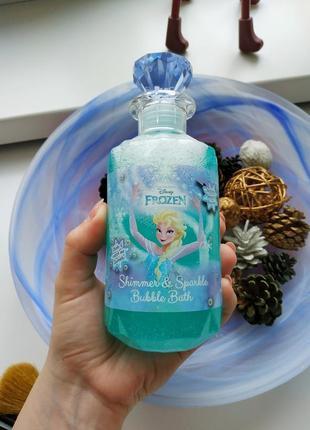 """Пена для ванны """"холодное сердце"""" с блестками от disney1 фото"""