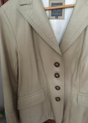 Кожанный пиджак marc aurel