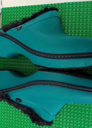 Теплые сабо кроксы тапки crocs р. 7  внутри 24.5 см