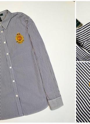 Оригинальная рубашка в полоску с гербом-логотипом ralph lauren