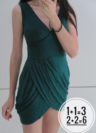 Платье зеленое/изумрудное