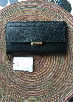 Кожаный 100% брендовый кошелек-распродажная цена!3
