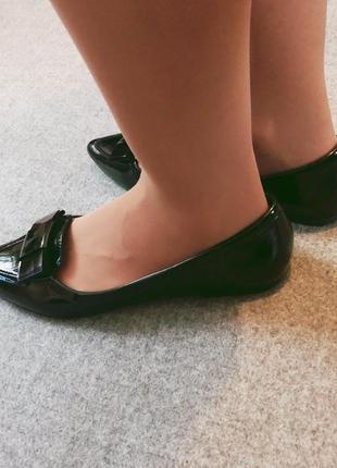 Стильные чёрные балетки4