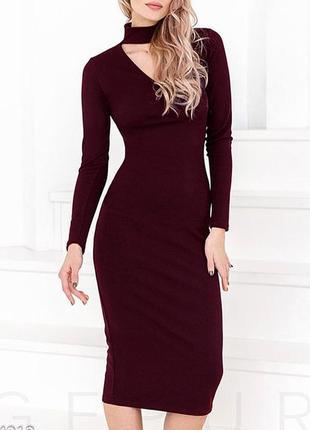 Натуральное платье с чокером , платье миди1 фото