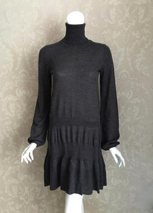 Marella италия серое шерстяное платье гольф max mara